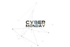 Fondo cyber di lunedì Concetto online di acquisto di festa Royalty Illustrazione gratis