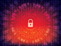 Fondo cyber di sicurezza immagine stock libera da diritti