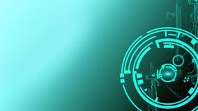 Fondo cyber futuristico astratto di tecnologia Progettazione di circuito di fantascienza Ciao tecnologia di tecnologia Contesto p illustrazione di stock