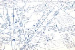 Fondo débil de la carta de la vía aérea Fotografía de archivo