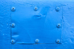 Fondo d'acciaio blu Fotografia Stock Libera da Diritti