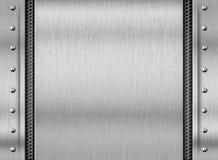 Fondo d'acciaio del piatto di struttura del metallo Fotografie Stock Libere da Diritti