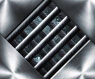 Fondo d'acciaio della gabbia del metallo Immagini Stock Libere da Diritti