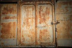 fondo d'acciaio stagionato della parete e di struttura Per l'esposizione del prodotto Fotografia Stock