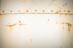 fondo d'acciaio stagionato della parete e di struttura Per l'esposizione del prodotto Immagini Stock