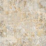 Fondo d'annata antico Grungy del collage della carta da parati floreale immagine stock