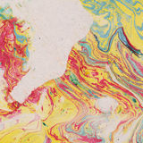 Fondo d'annata con carta marmorizzata illustrazione vettoriale