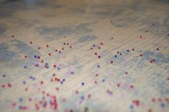 Fondo d'annata con delle le perle colorate multi Immagine Stock
