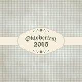 fondo d'annata con il modello a quadretti per Oktoberfest 2015 Fotografie Stock Libere da Diritti