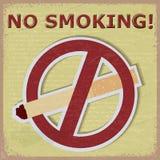 Fondo d'annata con l'immagine delle sigarette di divieto del segno Fotografia Stock