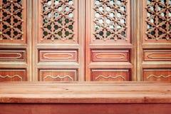 Fondo d'annata con la tavola di legno vuota fotografia stock