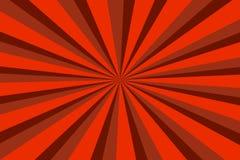 Fondo d'annata con le bande rosse, progettazione del sole Immagini Stock