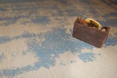 Fondo d'annata con sapone fatto a mano Fotografia Stock Libera da Diritti