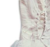 Fondo d'annata del corsetto del vestito da sposa Arco della stella blu con il nastro blu (involucro di regalo) su priorità bassa  Fotografie Stock