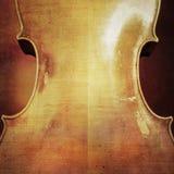 Fondo d'annata del violoncello Fotografie Stock