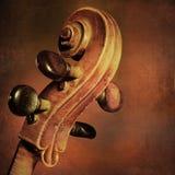 Fondo d'annata del violoncello Fotografia Stock