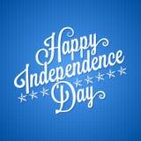 Fondo d'annata dell'iscrizione di festa dell'indipendenza Immagine Stock
