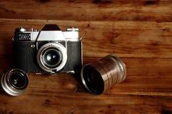 fondo d'annata della macchina fotografica Immagine Stock Libera da Diritti