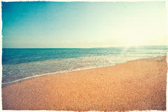 Fondo d'annata della spiaggia Fotografia Stock Libera da Diritti