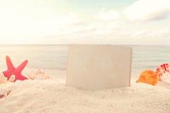 Fondo d'annata della spiaggia di estate Fotografia Stock