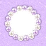 Fondo d'annata della struttura della perla Vettore Fotografia Stock