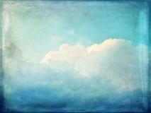 Fondo d'annata delle nuvole e del cielo blu Fotografia Stock Libera da Diritti