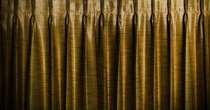 Fondo d'annata delle tende dell'oro fotografia stock