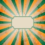 Fondo d'annata dello sprazzo di sole Fotografia Stock Libera da Diritti