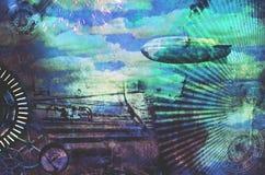 Fondo d'annata di progettazione dello steampunk Fotografia Stock