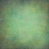 Fondo d'annata dipinto a mano astratto di verde blu Fotografia Stock Libera da Diritti