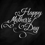 Fondo d'annata felice dell'iscrizione del giorno delle madri Fotografia Stock