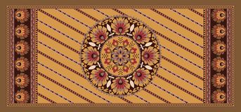 Fondo d'annata geometrico floreale senza cuciture illustrazione di stock