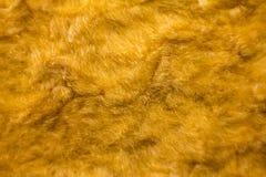 Fondo d'annata giallo del modello della pelliccia artificiale della pelliccia Fotografia Stock