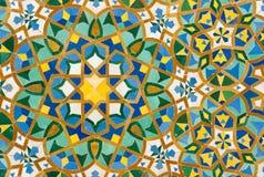 Fondo d'annata marocchino delle mattonelle fotografie stock