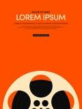 Fondo d'annata moderno del manifesto del film e di film retro Fotografia Stock Libera da Diritti