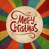 Fondo d'annata per il Natale Fotografie Stock