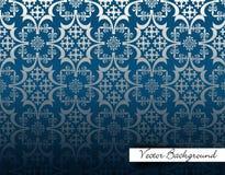 Fondo d'annata, progettazione blu di lusso, modello del fondo illustrazione vettoriale