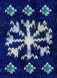Fondo d'annata tricottato del fiocco della neve retro Fotografie Stock Libere da Diritti