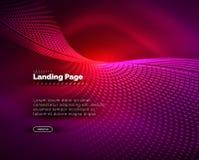 Fondo d'ardore del neon per la pagina d'atterraggio Fotografia Stock