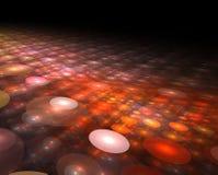 Fondo d'ardore futuristico dei cerchi di tecnologia astratta Immagine Stock