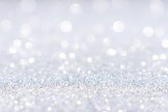 Fondo d'argento bianco astratto della scintilla di scintillio immagine stock