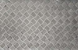 Fondo d'argento del pavimento del bordo di Gray Metal Checker Plate Wall fotografia stock libera da diritti