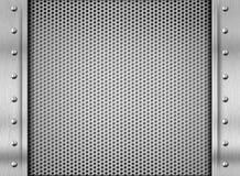 Fondo d'argento del piatto d'acciaio di struttura del metallo Fotografia Stock Libera da Diritti