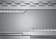 Fondo d'argento dell'estratto del metallo royalty illustrazione gratis