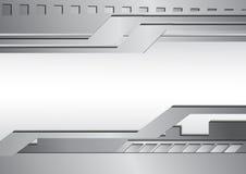 Fondo d'argento dell'estratto del metallo illustrazione di stock
