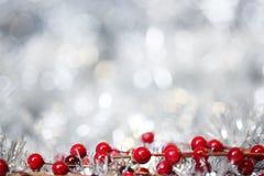 Fondo d'argento di Natale Immagini Stock
