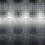Fondo d'argento di struttura del metallo con l'impianto a scacchiera nero Fotografie Stock Libere da Diritti