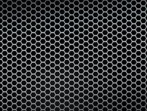 Fondo d'argento di struttura della maglia metallica Fotografia Stock