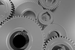 Fondo d'argento di tecnologia Immagini Stock Libere da Diritti