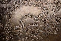 Fondo d'argento macchiato dello scrollwork Fotografia Stock Libera da Diritti